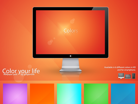Color your life Wallpaper pack by g00glen00b