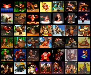 Character Collage: Donkey Kong by Austria-Man