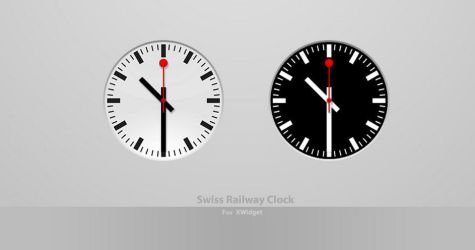 Swiss Railway Clock For XWidget by pigboat