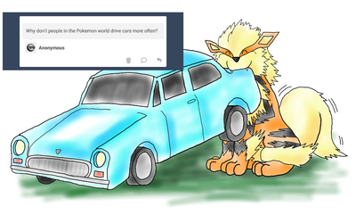 Why don't people drive cars in Pokemon? by Dragonsbld