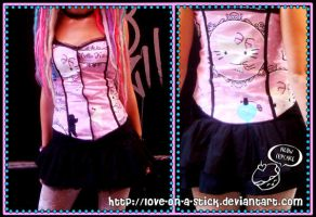 Hello Kitty top + frilly skirt by love-on-a-stick