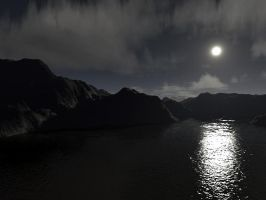Terragen - Night Scene by Dezrok