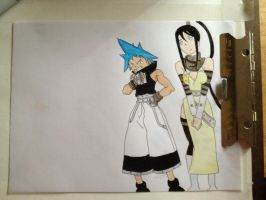 WIP Colored Black Star and Tsubaki by EsBest