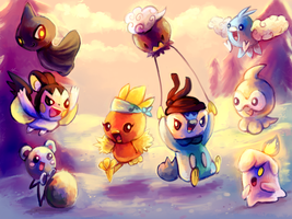 Abundance of Cute Pokemon by MusicalCombusken
