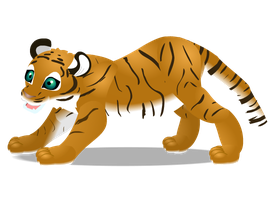 tiger cub by PurpleRat-YS