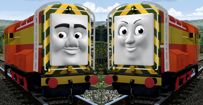 What if: Diesel and Paxton were repainted by The-ARC-Minister