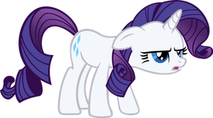 Dissapointed Rarity Vector by hombre0