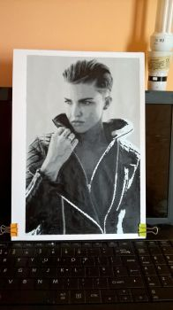 Ruby Rose A4 Pixel Painting WIP by leb82