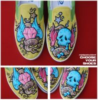 love and hate shoes by mburk