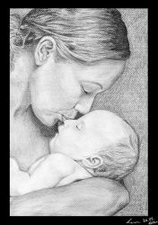 Mother and baby by DB-Naomi-san