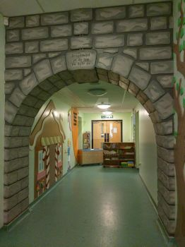 Roald Dahl School Installation - Stone archway by Ideas-in-the-sky
