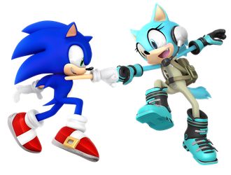 Sonic and Scar: Fist Bump! by Nibroc-Rock