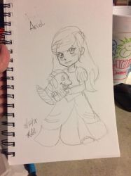 Ariel sketch  by Blackpocketroses