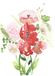 Poppies and Roses by sharonroser