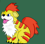 Scout the Growlithe by ZhaneAugustine
