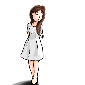 Girl in a White Dress by Gioku