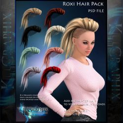 Roxi Painted Instant Hair PSD add on hair stock by MakeMeMagical