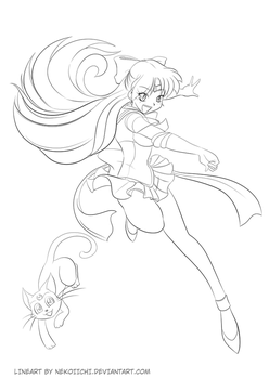 Sailor Venus Lineart - Big by nekoiichi