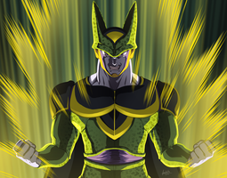 Puny Gnats!! Cell - Dragon Ball Z by fradarlin