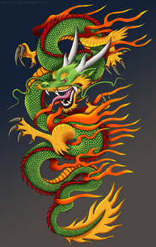Asian Dragon commission by Vargorm