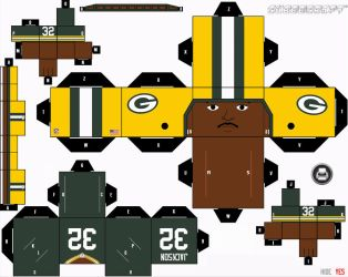 Brandon Jackson Packers Cubee by etchings13