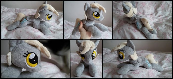 Derpy beanie plush by RosaMariposaCrafts