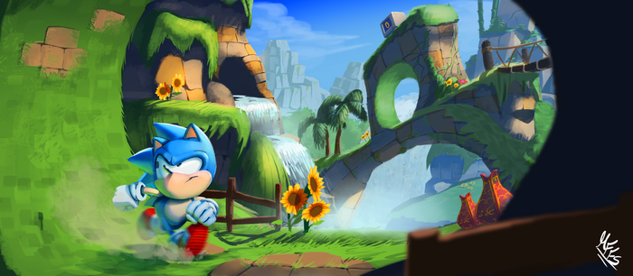 Green Hill Zone by ResidentEvilffs