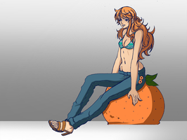 Nami on Orange by PhoenixRoy