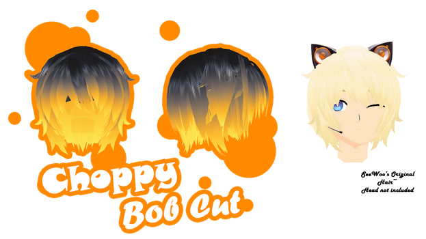 [MMD Parts] - Hair - Choppy Bob Cut (+dl) by ColorsOfOrion