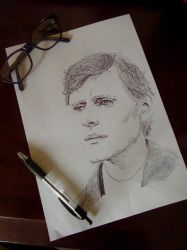 Endeavour Ink Sketch by NightingaleCosplay