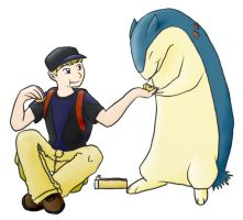 A Boy and His Typhlosion by tibek