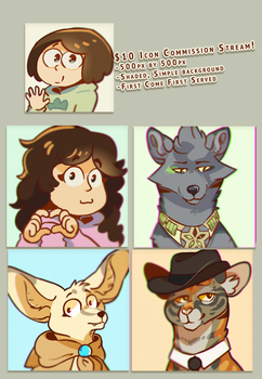 Instant Icon Commission Stream! by Nifty-senpai