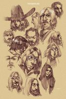 beatles sketches by erosell