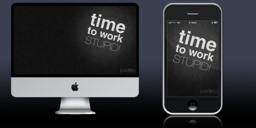 Time to work wallpaper by horder