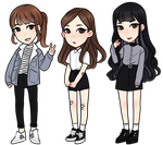 smol chibies by Hyeoii