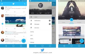 Twitter Material Design by migmc