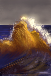 Wave Speedpaint by deliatee