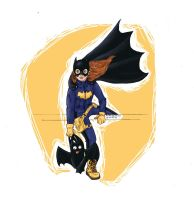 the new batgirl design by minihumanoid