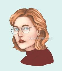 Dana Scully - 90s portrait by Ruru-W