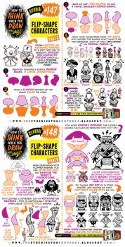 How to draw FLIP-SHAPE CHARACTERS tutorial by STUDIOBLINKTWICE