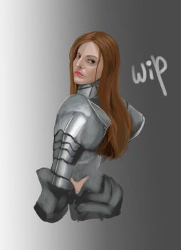 Grace Holley painting [Work in Progress] by DarkDenis