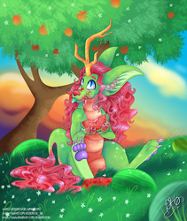 Watermelon Dragon by Dragonfoxgirl