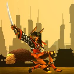 A warrior of the east (second version). by TalesFoxdale