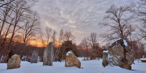 Winter Dawn Megaliths by somadjinn
