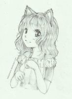 The Cute Girl with Cat Ear by KishaSharie