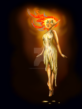 Candle lady by Redwingsparrow