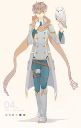 Owl Officer Auction : { CLOSED } by WanyaaGoAdopts