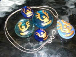 Laputa pendants in the night by user-name-not-found