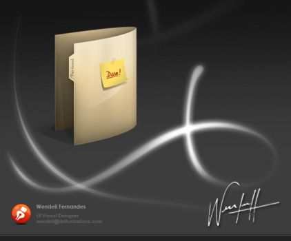 Folder Icon by dellustrations