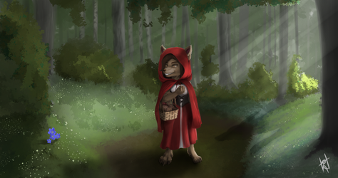 Commission - Red riding hood: Trefoils by Earnster